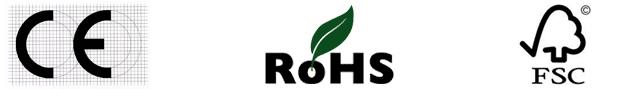 Certificaciones y cumplimiento de saunas infrarrojos cabinas CE RoHS FSC
