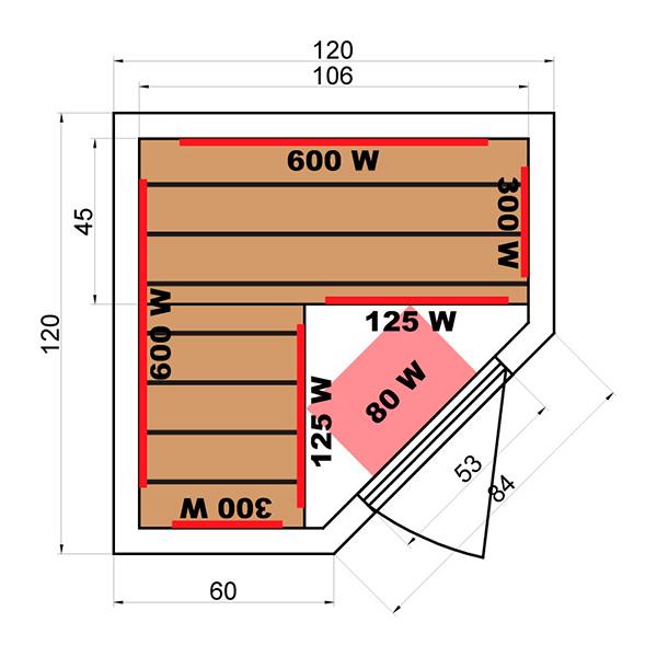 Sauna infrarouge soleil blanc 2 3 places outlet piscines - Consommation electrique sauna infrarouge ...