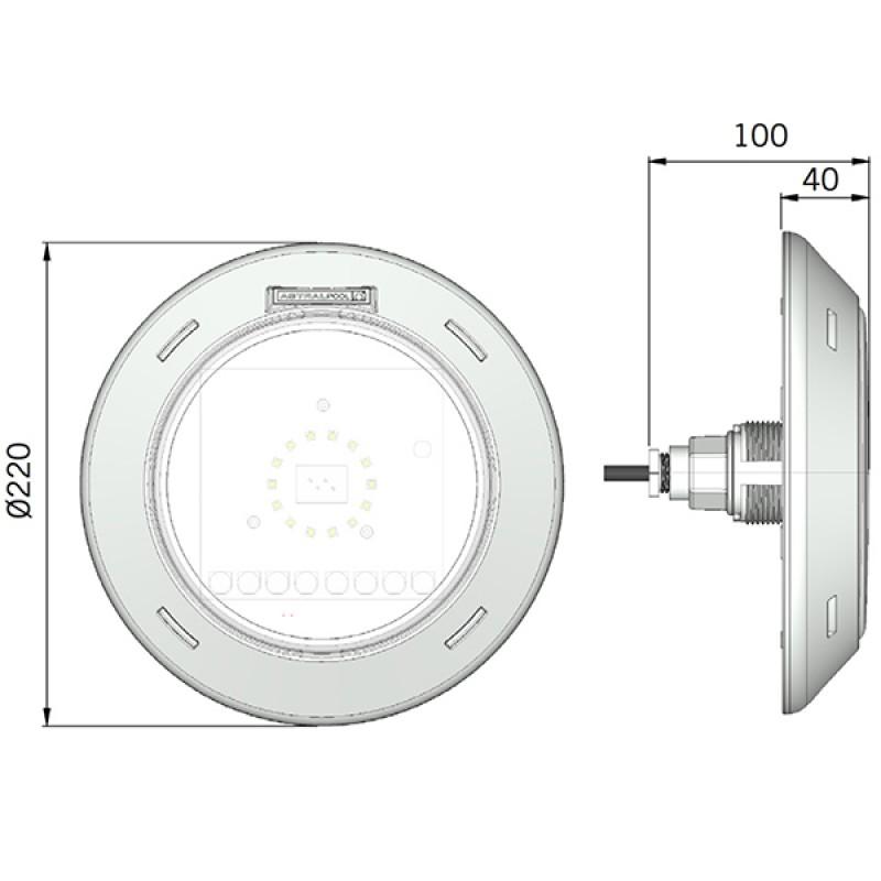 projecteur led lumiplus wireless outlet piscines. Black Bedroom Furniture Sets. Home Design Ideas