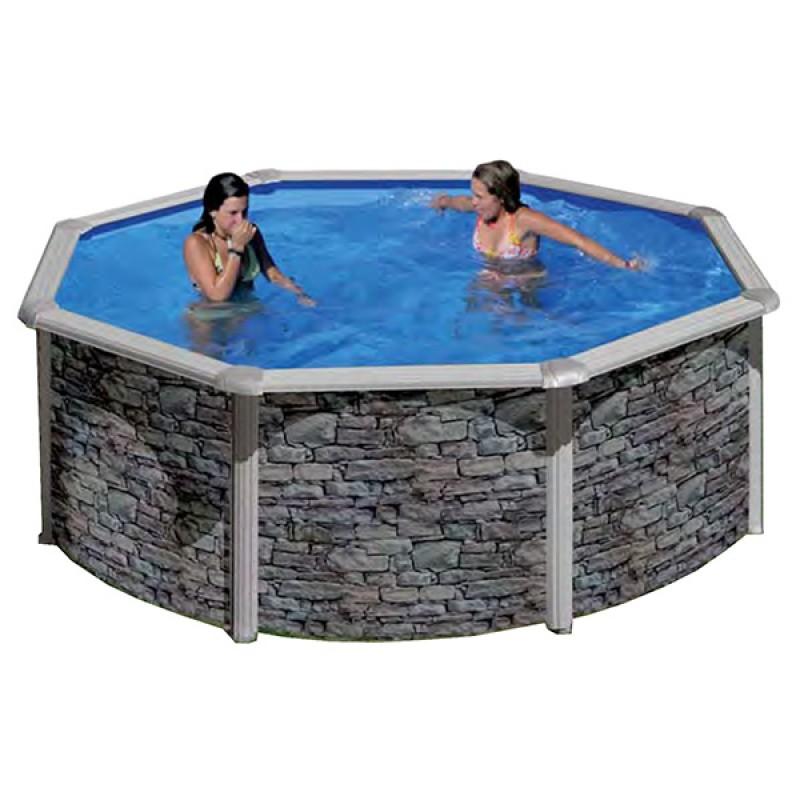 Piscine hors sol cerdagne ronde gre outlet piscines for Robot piscine ronde