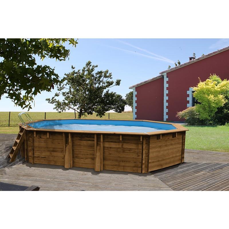Piscine bois gre ovale vermela outlet piscines for Piscine gre