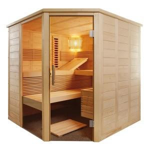 Sauna Alaska Corner Kombi avec radiateur
