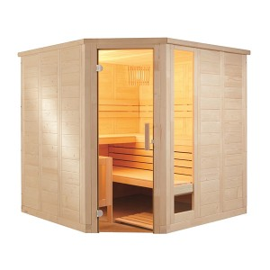 Sauna Vapeur Komfort Corner Large Tradition Finlandaise