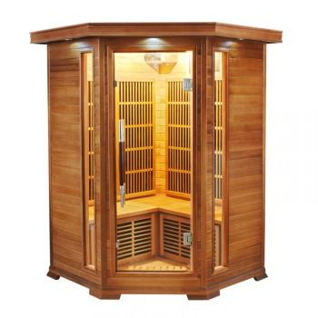 Sauna Infrarouge Soleil Blanc 2/3 Places