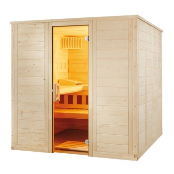 Sauna Vapeur Wellfun Large Tradition finlandaise