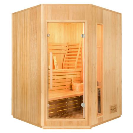 Sauna à Vapeur Zen d'angle - 3 à 4 Personnes