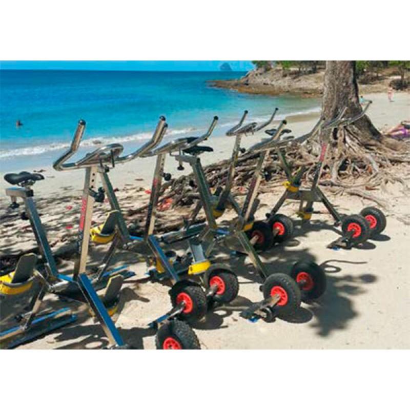 Velo Poolbiking Ibiza Aquagym plage