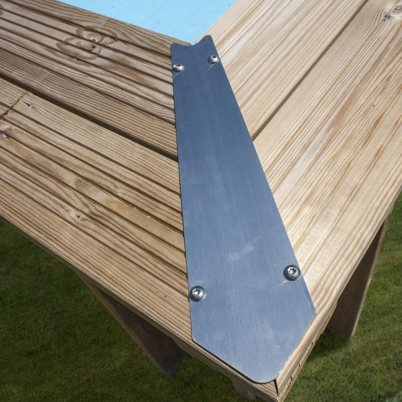 Embellecedor Piscina madera Gre Sunbay Cannelle