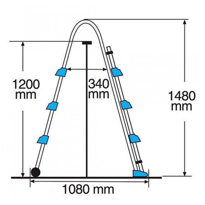 Dimensions Échelle de sécurité en ciseaux