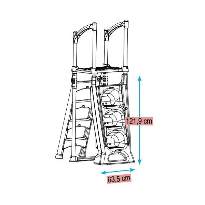 Escalera H2O dimensiones