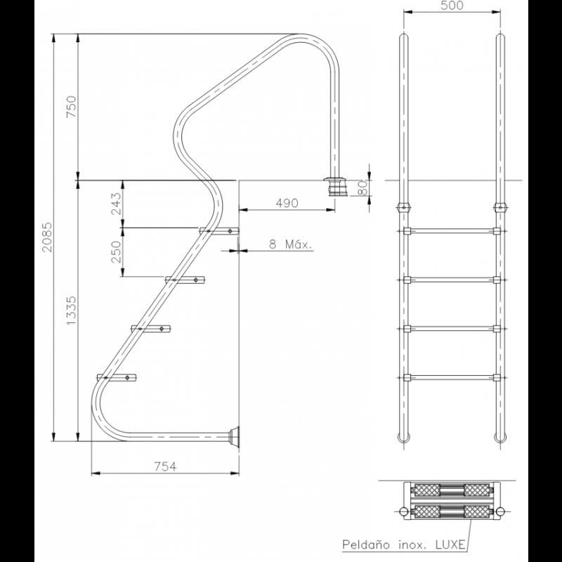 Échelle d'accès facile Astralpool 11979