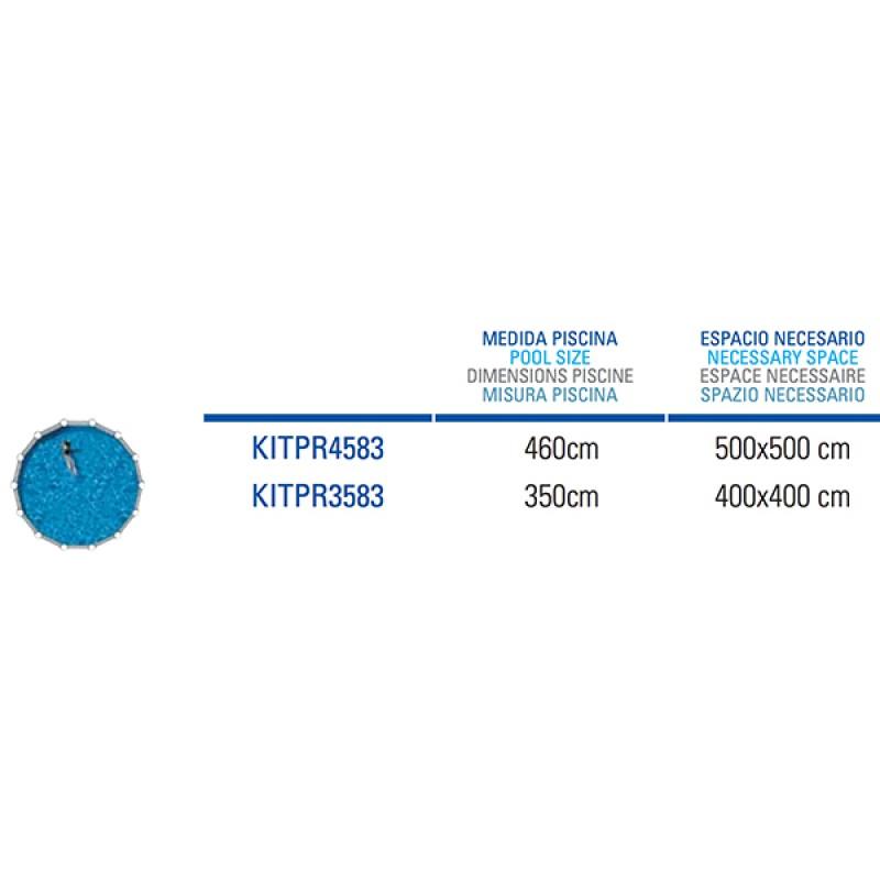 Piscine acier Azores ronde Gre - Space