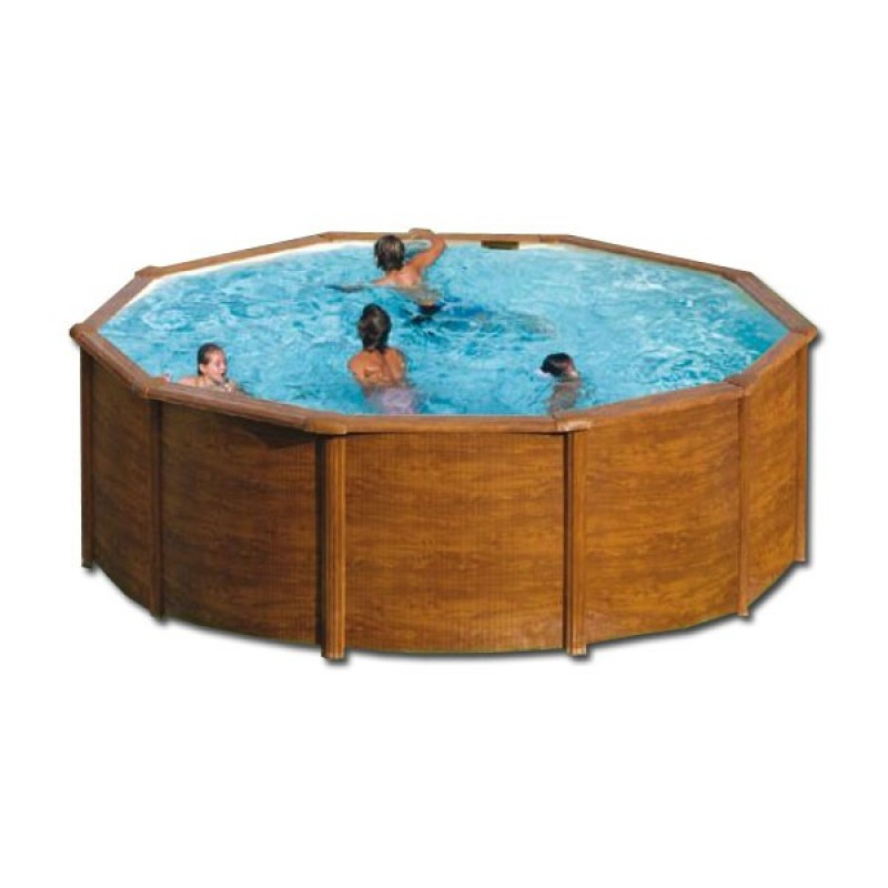 Piscine hors sol Gre Pacific bois circulaire