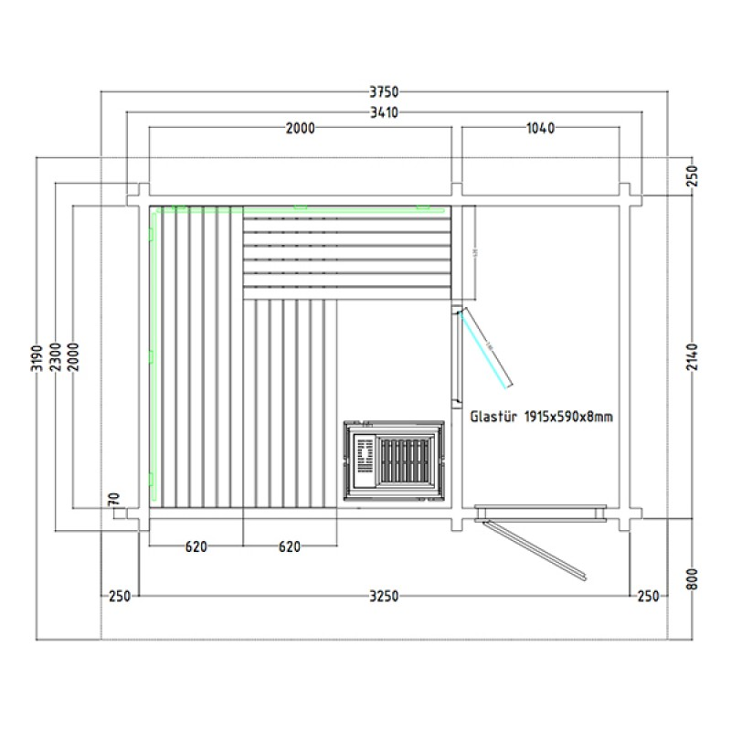 Plan Sauna d'Extérieur Lava
