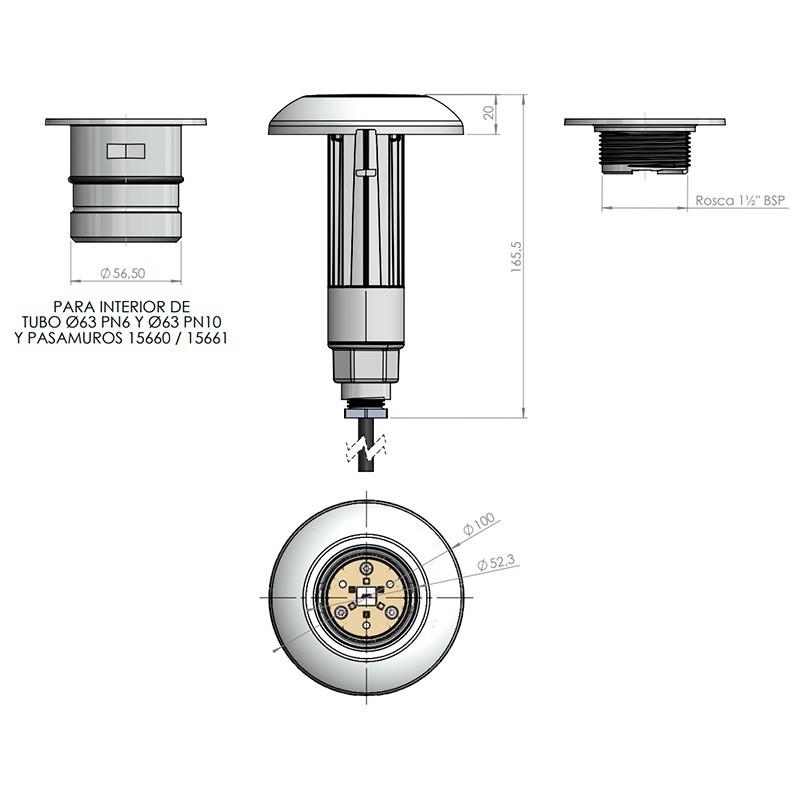 Led Lumiplus Mini V3 Astralpool medidas