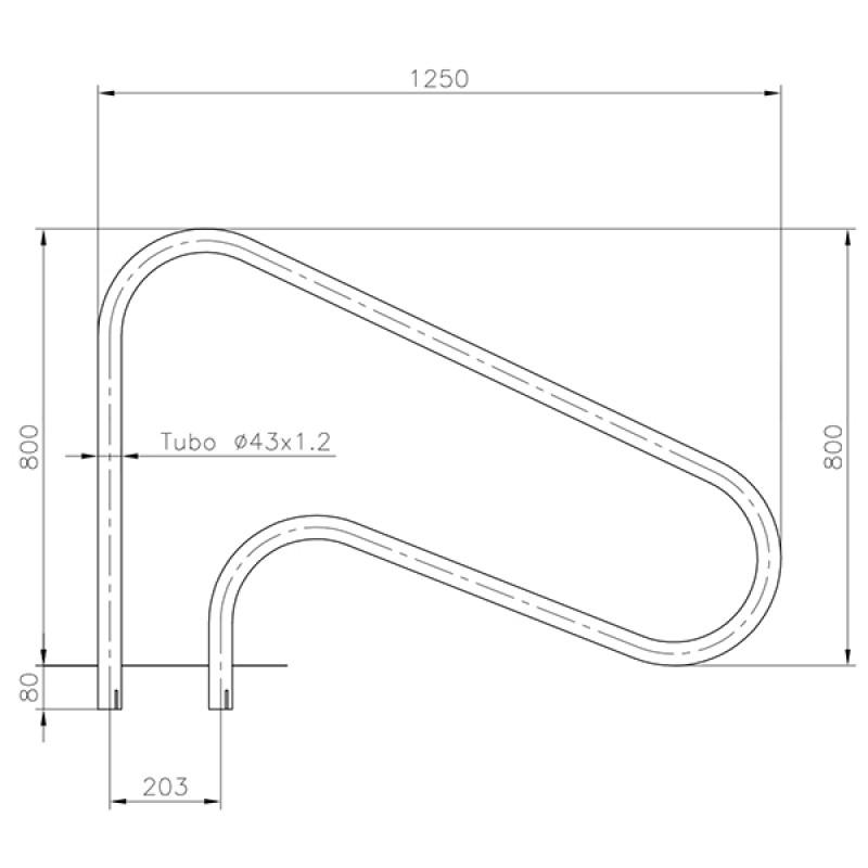 Sortie ancrage extérieur Astralpool - Dimensions