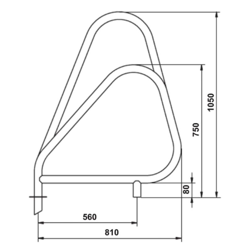Sortie Echelle Modèle Asymétrique - Dimensions