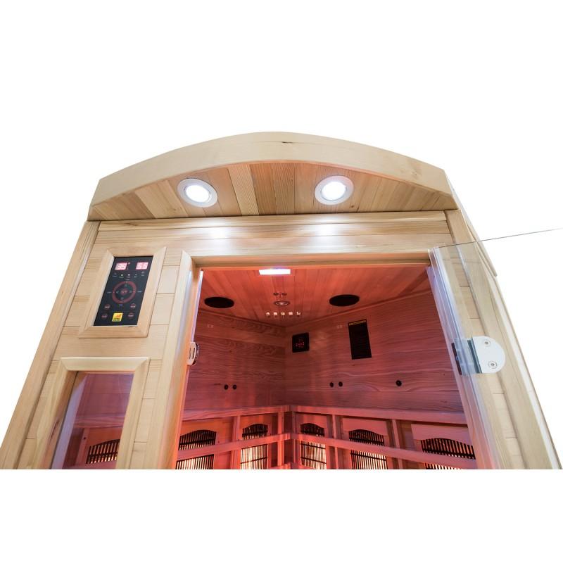 Interior Sauna Infrarrojos Apollon 3/4 Plazas