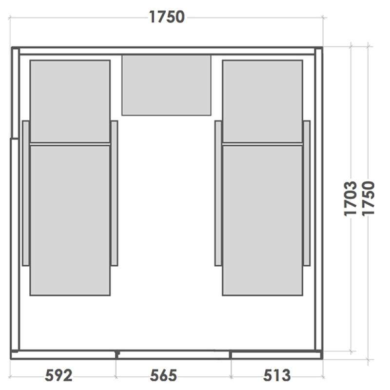 Sauna de Vapeur Alto Vap - Dimensions