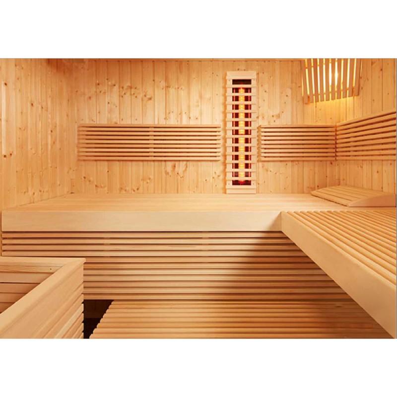 Sauna Panorama Large Kombi Intérieur