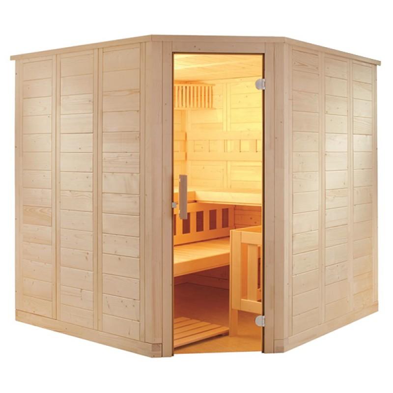 Sauna Vapeur Wellfun Corner tradition finlandaise