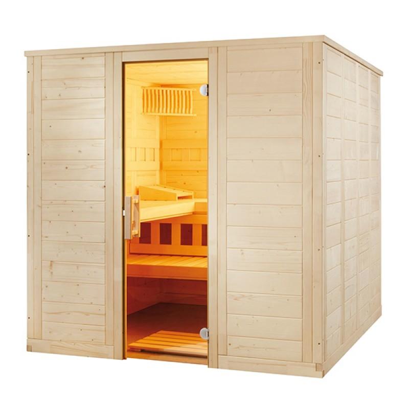Sauna Vapeur Wellfun Large Tradition finlandaise