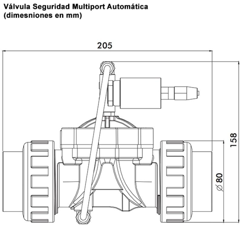 Vanne Securite Multivoies Automatique AstralPool - Dimensions