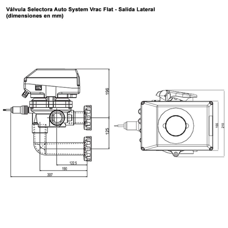 Vanne Multivoies Auto System Vrac Flat - Latérale