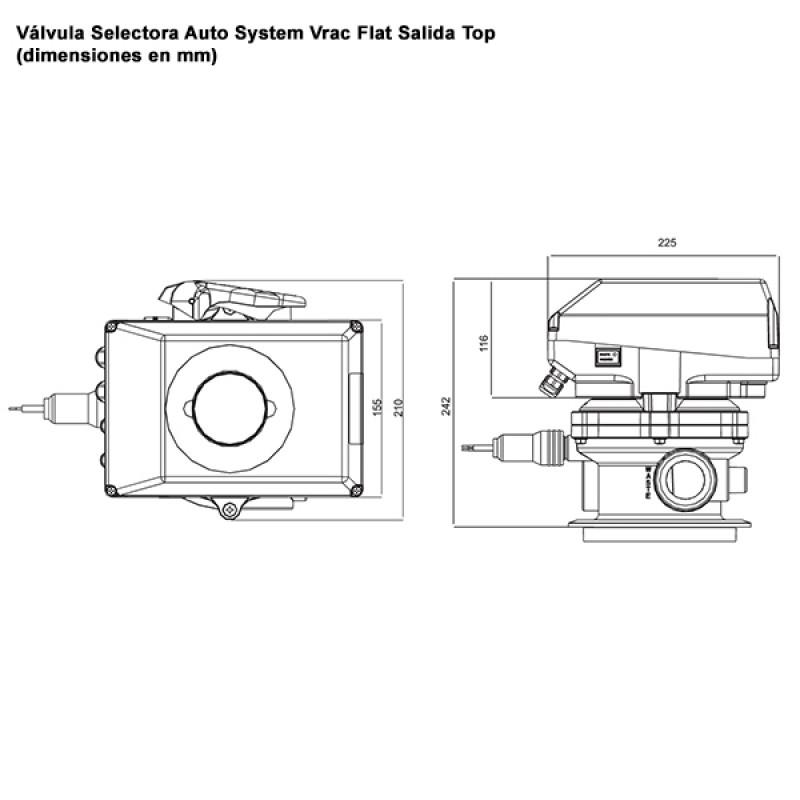 Vanne Multivoies Auto System Vrac Flat - Top